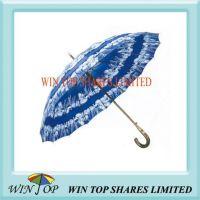 23 inch Auto Straight Wooden Frame Printed Umbrella
