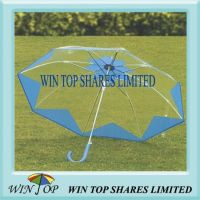 "23"" Auto Straight Plastic Umbrella"
