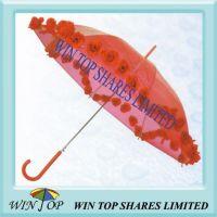 Ladies PVC Umbrella with Pasted Flower
