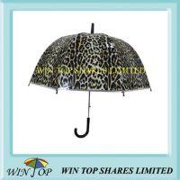 Leopard Design Auto Straight Poe Umbrella