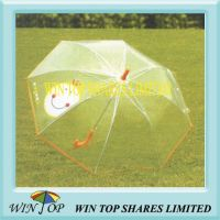 "23"" Straight Metal Transparent PVC Umbrella (WTP022)"