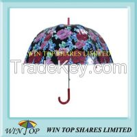 "23"" Women Flower PVC Umbrella"