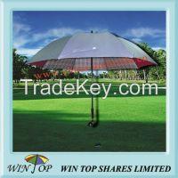 Unique Golf Umbrella with Wooden Golf Head Handle (WT6123)