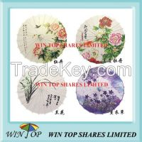 China lucky and fortunate flowers craft umbrella