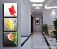 flower canvas prints 3panels