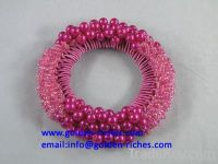 Hot Pink Beads Scrunchies