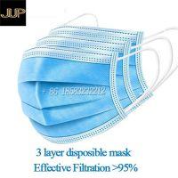 Effective filtration above 99% medical mask 3 layer face mask