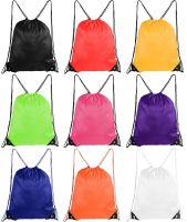 Women Men Drawstring Beach Bag Sport Gym Waterproof Backpack Travel Sack Bag