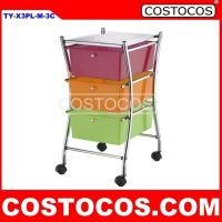 Multi-Color X-Frame 3 - Drawer Trolley (Storage Cart)
