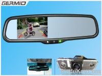 3.5 inch rearview mirror monitor with optional autodimming and compass