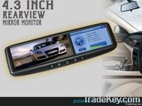 4.3 inch clip on rearview mirror gps navigation with bluetooth