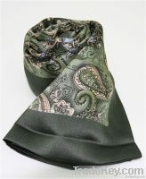 Exporter rectangle scarf of Satin