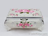 Metal jewelry box jewel box