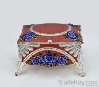 Metal jewelry box jewel box