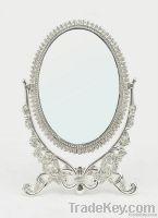 Metal cosmetic mirror