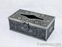 Metal tissue box paper box home decoration