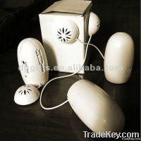 2012 newest egg shape mini portable vibration sticker speaker