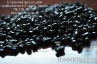 Secondary granule for PE pipes