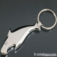 Metal bottle opener keychain