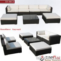 rattan wicker living room sectional sofa set