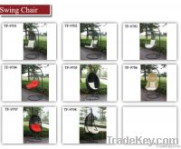 Rattan swing hanging chair