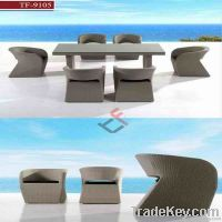 Rattan Dining Table Set in Home & Garden