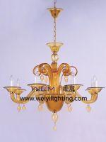Glass chandelier light