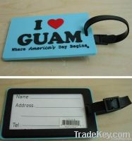2012 Hot sale novel design Soft PVC Luggage tags, Rubber Luggage tags