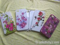 Fashion flower design PC phone case for Iphone 4G/4S