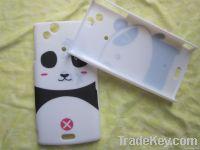 Rubber watering printing Panda shaped Xperia X12 case