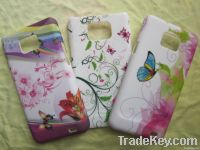 Rubber watering printing phone case for Galaxy 2/ i9100