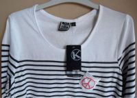 Ladies long sleeves printed striped top