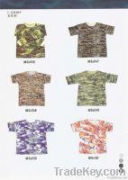 camo cotton t-shirt