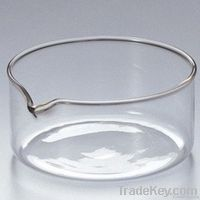 3.3 bore glass crystal dish with spout