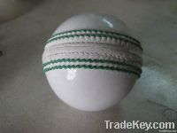 White Hand Crafted Leather Cricket Ball