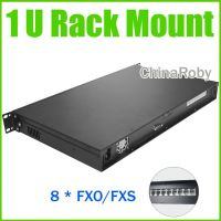 ip pbx kit 1U Rack Mount voip server ,8 FXO ports,Asterisk/Elastix PBX,1U IP PBX phone system