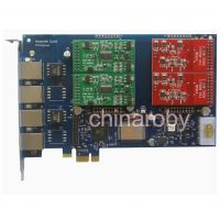 AEX410 Asterisk card with 4 FXO port,FXO card PCI-E,tdm410p