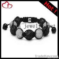 2012 latest Fashion shamballa bracelet with rhinestone