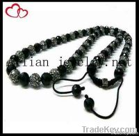 2012 hot selling fashion shamballa necklace, disco ball necklace