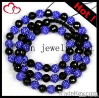 2012 hot selling fashion shamballa necklace, disco ball necklace