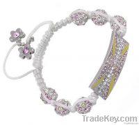 2012 new design shamballa cross charm bracelet for Olympic Games