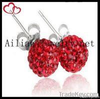 2012 fashion shamballa beads earring, disco ball earring