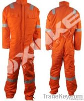 Fireproof winter coverall with teflon finished