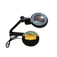 Foldable Table Lamp with magnifying glass circular base
