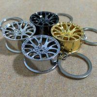 Hot Sale New Design Cool Luxury metal Keychain Car Key Chain Key Ring, Creative Wheel Hub Chain For Man Women Gift