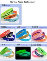 Custom Silk screen heat transfer printing logo silicon wristband rubber bracelet