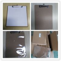Letter Size MDF Clipboard with Low Profile Clip and Rounded Corners, Fiberboard MDF Hardboard Great for Schools, Office or Silent Auctions
