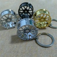 Hot Sale New Design Cool Luxury metal Keychain Car Key Chain Key Ring, Creative Wheel Hub Chain For Man Women Gift