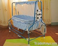 Automatic swing baby crib