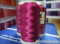 100% shiny art silk rayon 120D 4000Y embroidery thread
